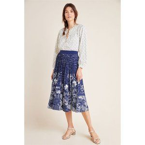 Anthropologie | NWT Haven Pleated Knit Midi Skirt